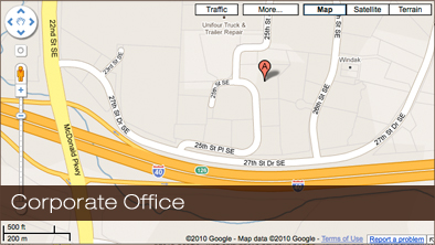 corporate office map